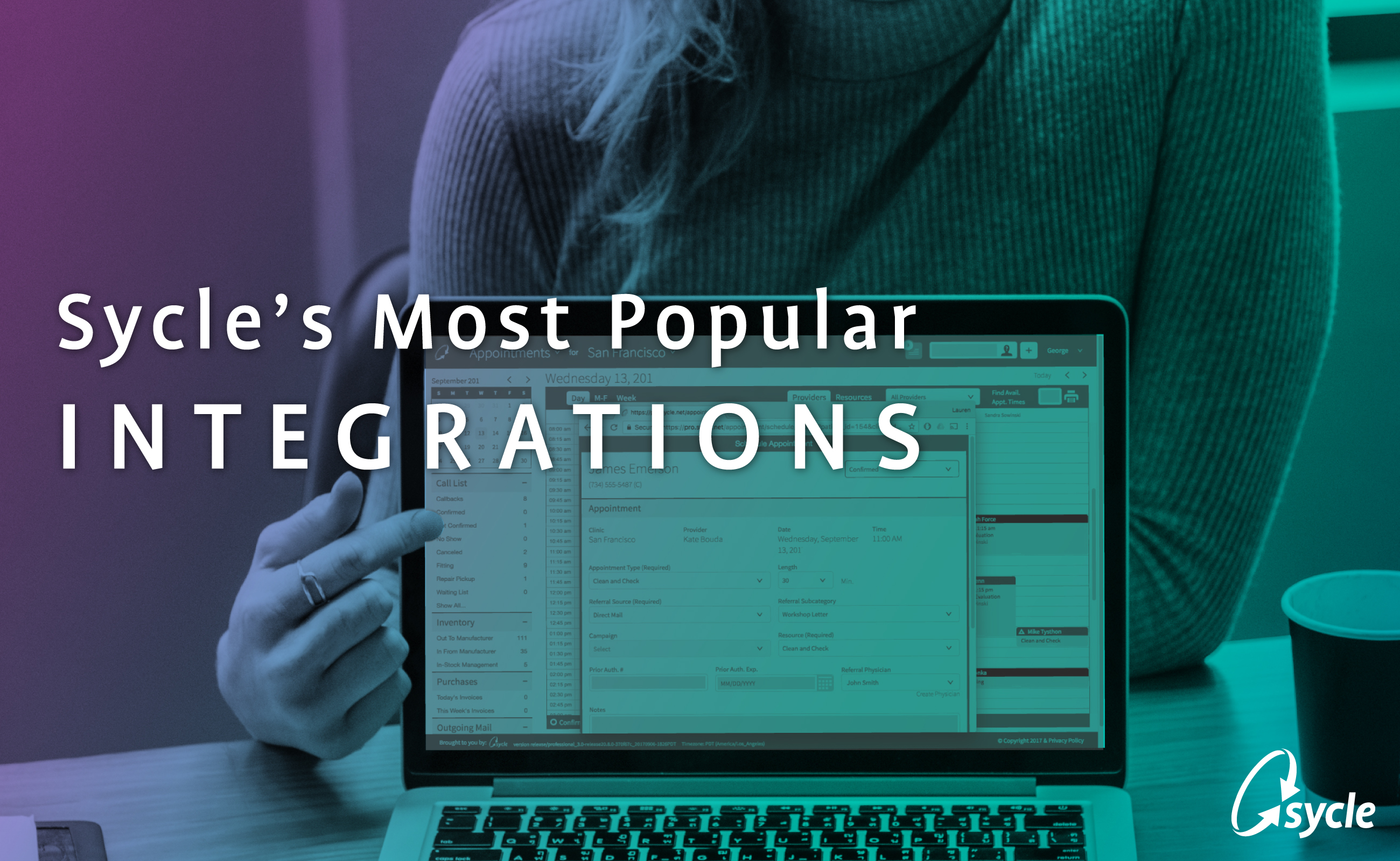 Infographic: Sycle's Most Popular Integrations image
