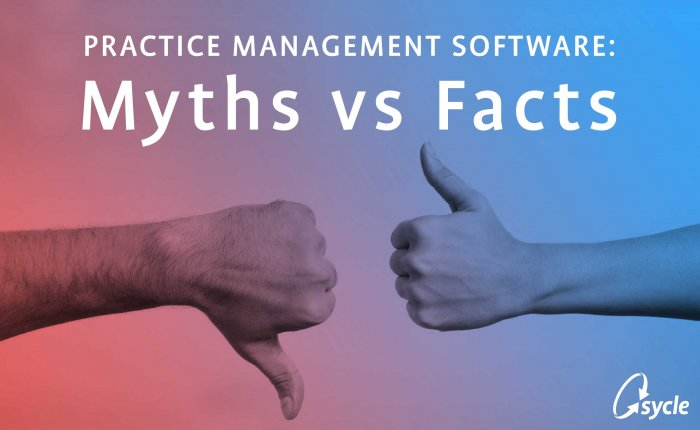 Practice Management Software Myths vs Fact image